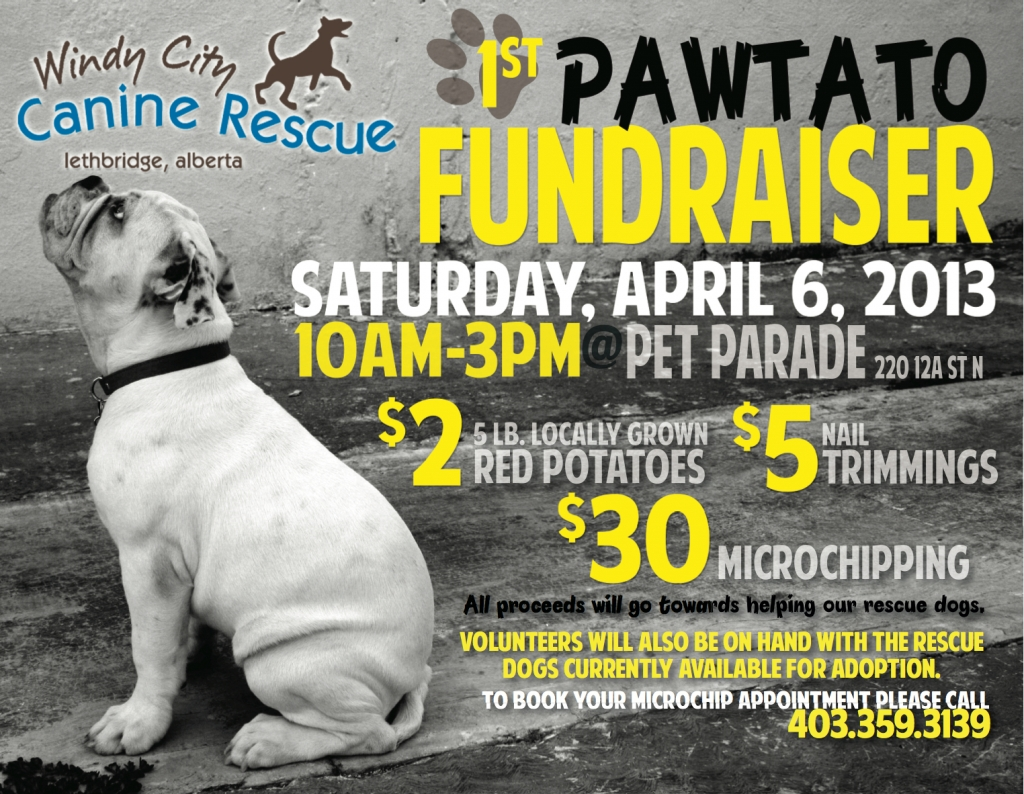 Pawtato Fundraiser 1024x794 Microchips, Nail Trims and Potatoes